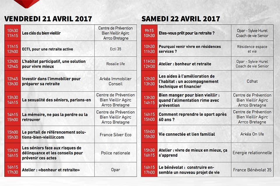 Salon des seniors rennes les vendredi 21 et samedi 22 for Salon des seniors 2017