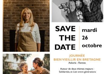 SAVE THE DATE – Journée Bien Vieillir en Bretagne – 26 octobre 2021