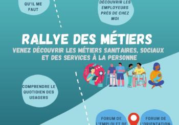 Rallye des métiers sanitaires, sociaux et des services à la personne du Pays de Fougères – Du 31 mai au 11 juin